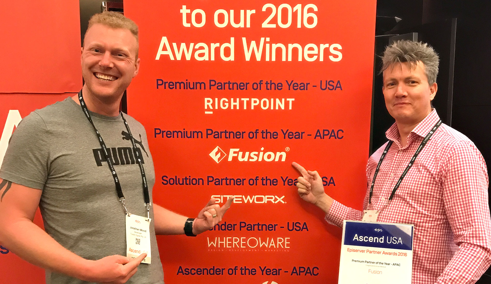 Fusion awarded global accolade at the 2017 Epi Ascend Awards